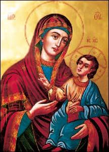 L'icona della Madre di Dio dell'Odigítria, ad Al-Mantara.